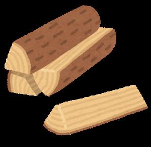 薪は市販の乾燥したものを使用しましょう