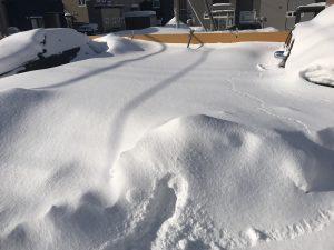駐車場②除雪作業前