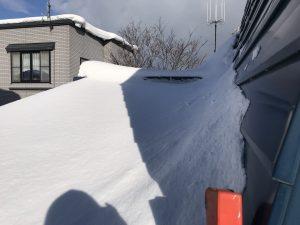 1F屋根雪下ろし前