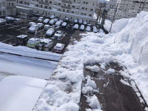 雪庇除去後