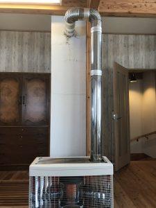 煙突式ストーブと集合煙突