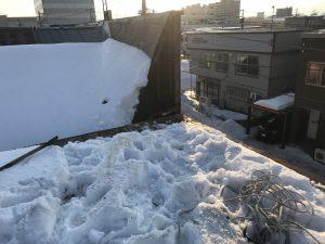 トタン屋根の撤去完了