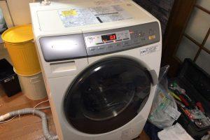 洗濯機設置完了