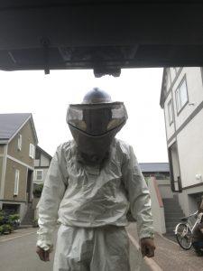 ハチ駆除用防護服