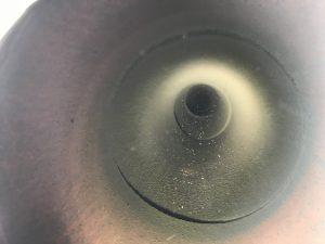 集合煙突の円筒内部清掃直後
