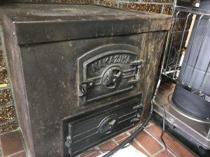 お洒落で年代物の暖房機