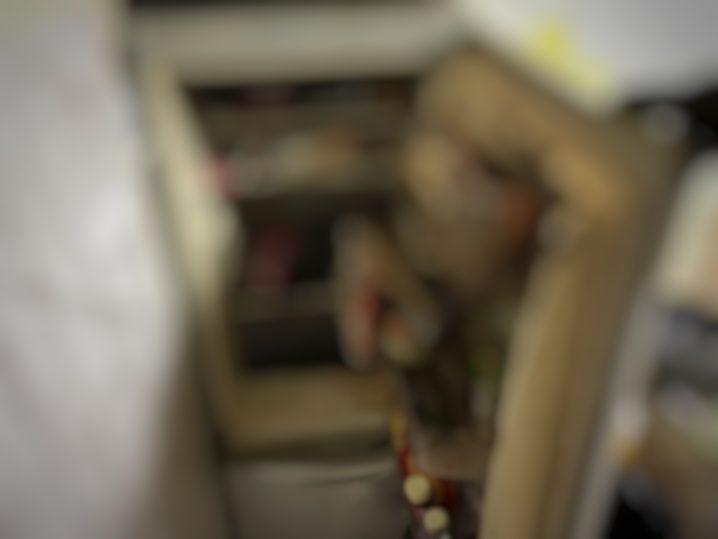 真っ黒な冷蔵庫・・・