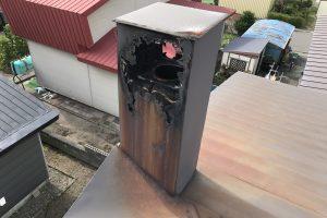ボロボロの集合煙突