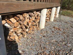 よく乾燥された薪を使いましょう