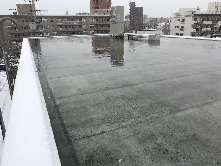 屋上にたっぷりの雨水が・・・