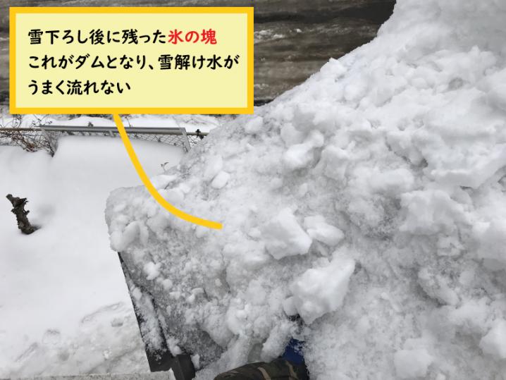 氷の塊がみえたら要注意!